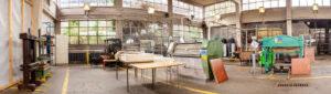 Panorama papirne delavnice PapLab